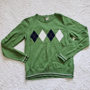 Green Argyle Sweater